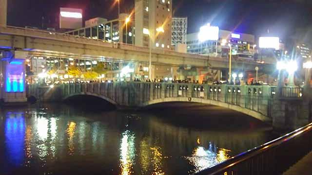 大江橋夜の写真