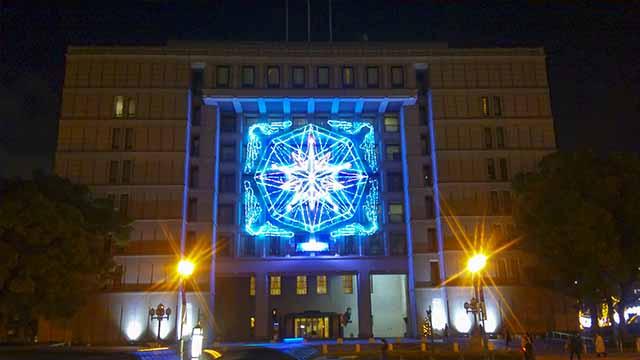 大阪市役所夜の写真